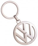 VW Round Silver Key Ring