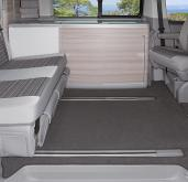Brandrup Velour carpet VW T5 California passenger compartment TWO RAIL  ANTHRACITE