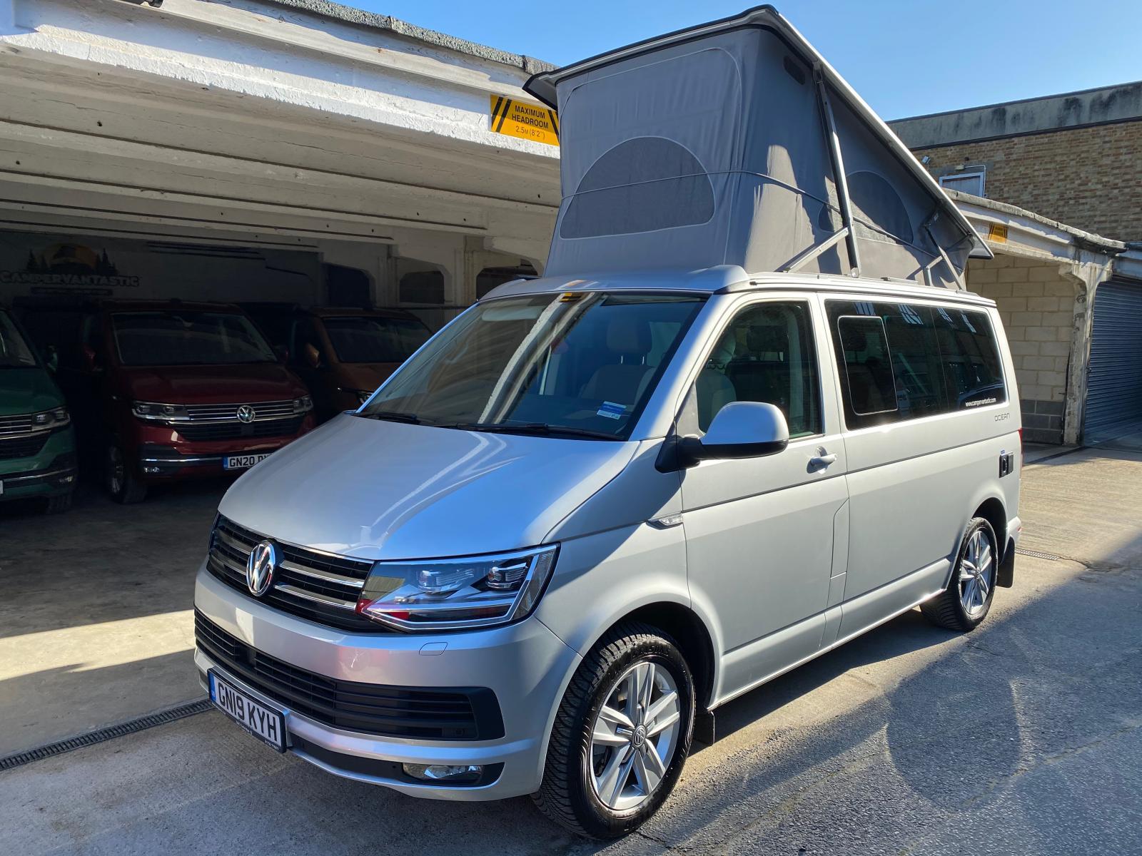 Vw California Ocean Camper Van T6 2019 Reflex Silver 2 0lt Bitdi 199 Ps 7 Speed Dsg Automatic Campervantastic Camper Van And Accessories Online Shop