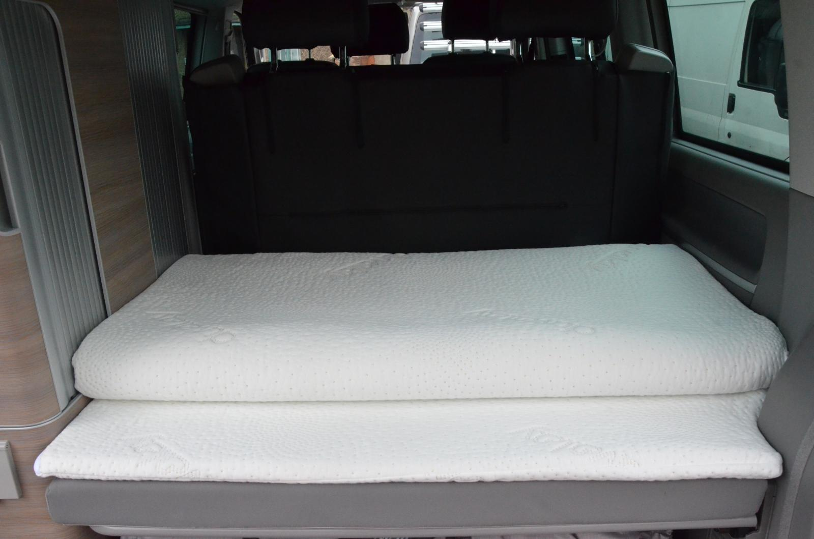 DUVALAY Specific Shaped Mattress Topper for the lower bed VW T5/T6  California OCEAN