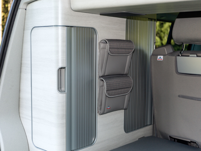 brandrup storage pockets for central wardrobe vw t6. Black Bedroom Furniture Sets. Home Design Ideas