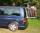VW T5 California SE & Beach Caravelle etc Tailgate Bike Rack, holds 4 bikes (Comes fully assembled)